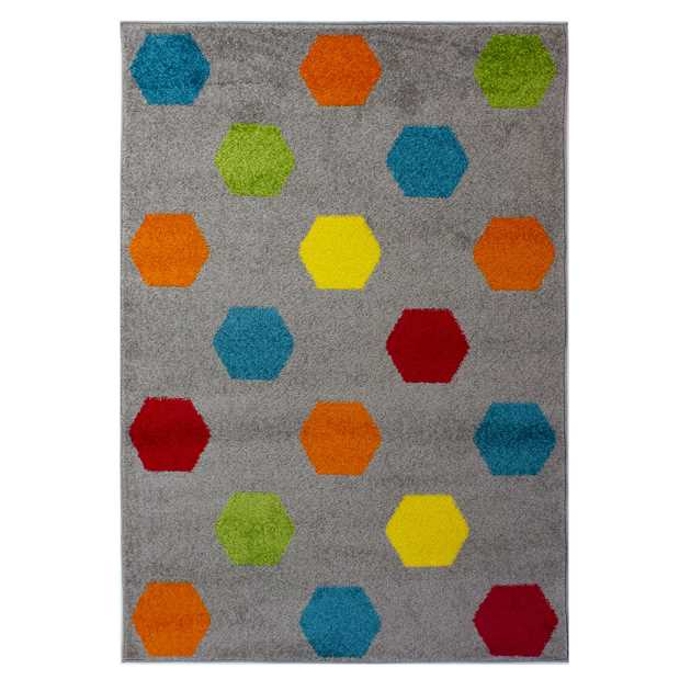 Brights Hex Multicoloured Rugs