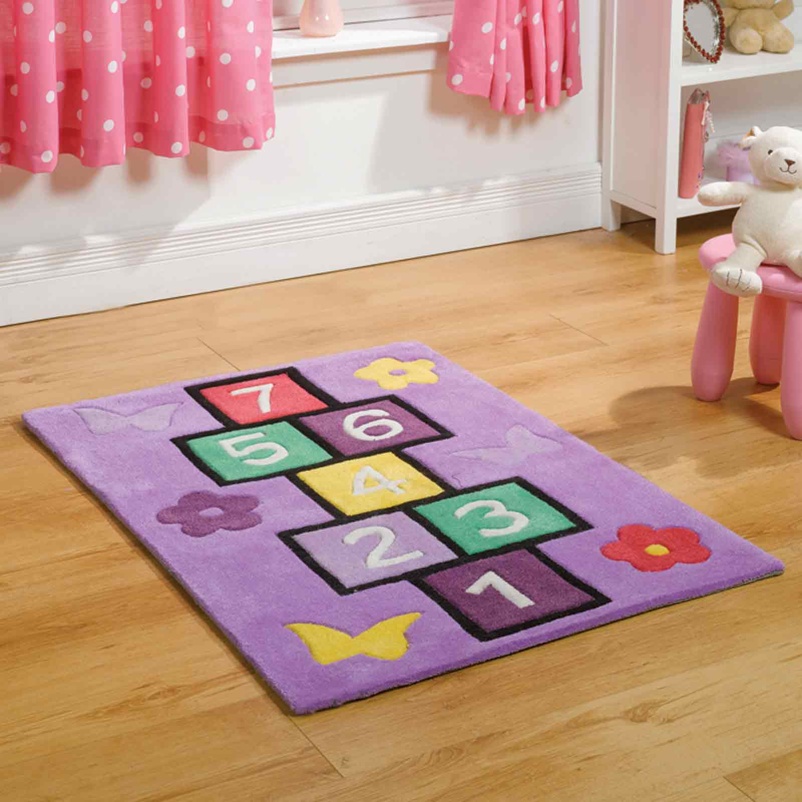 Play Hopscotch Rugs in Lilac