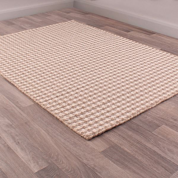 Houndstooth Runner - Taupe