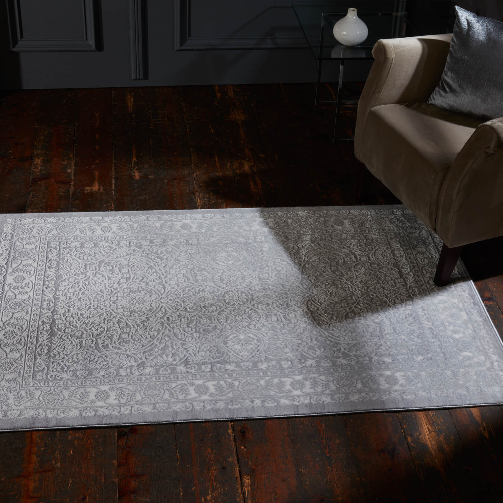 Alpaca Huacaya Rug In Grey