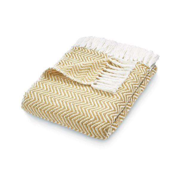 Herringbone Throw - Gold
