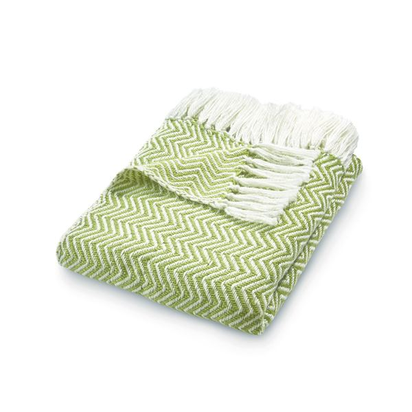 Herringbone Throw - Green