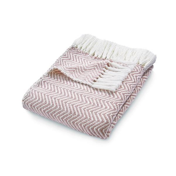 Herringbone Throw - Pink