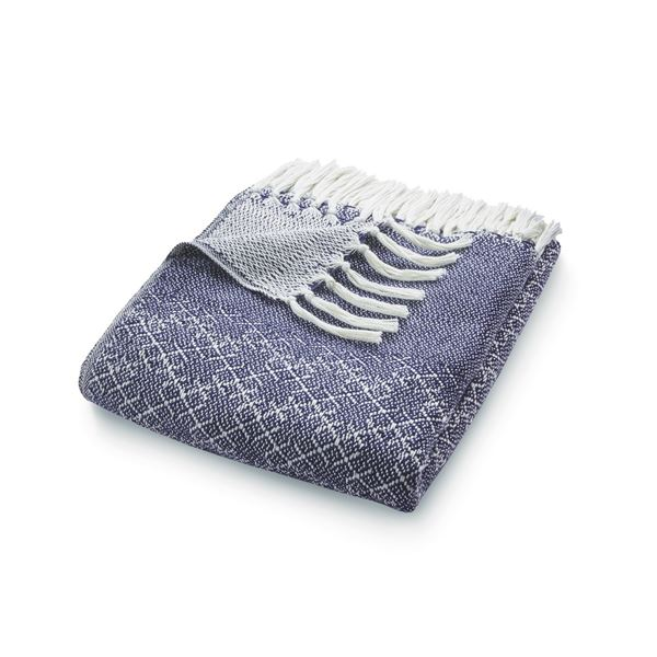 Trellis Throw - Navy