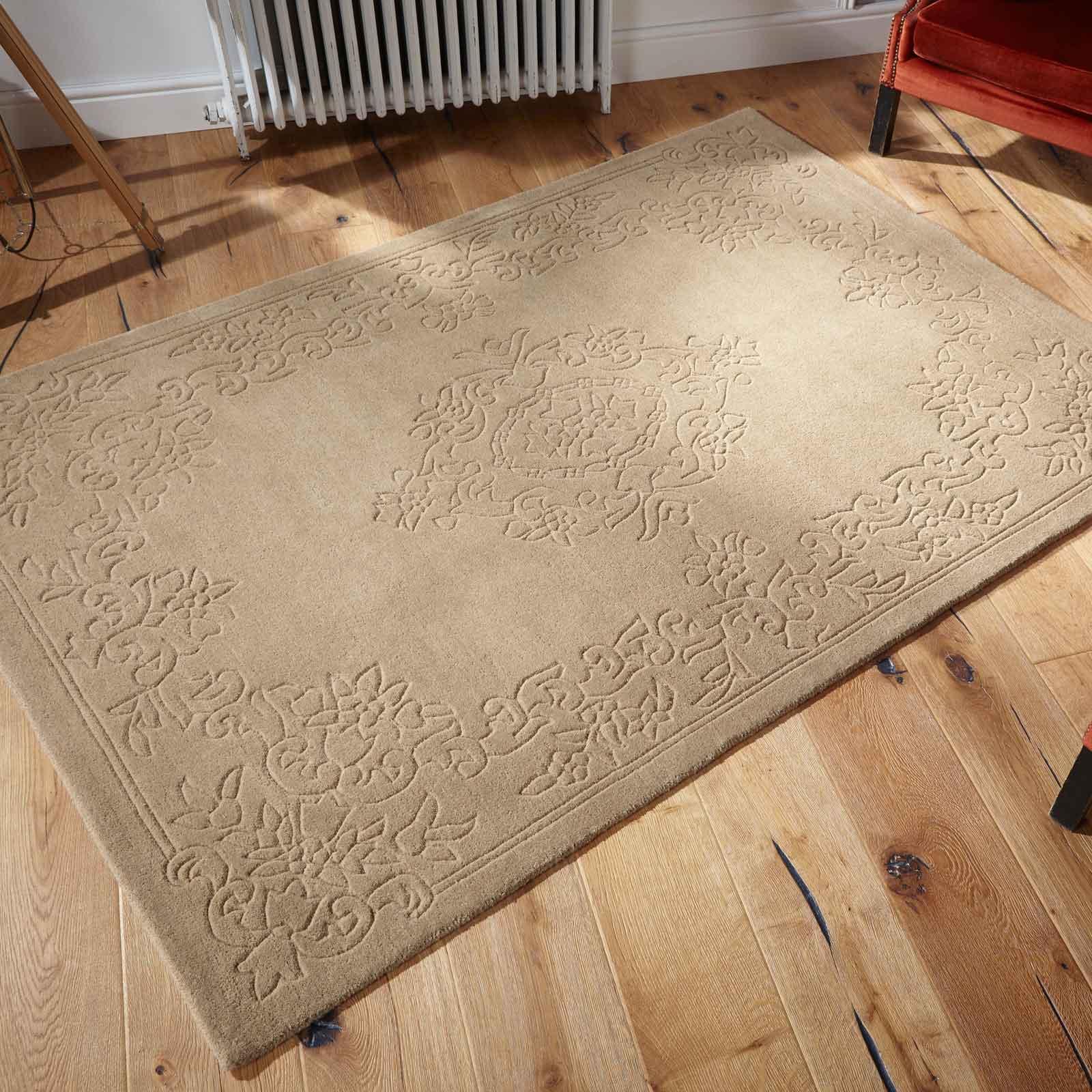 Imperial Plain Wool Rugs In Beige