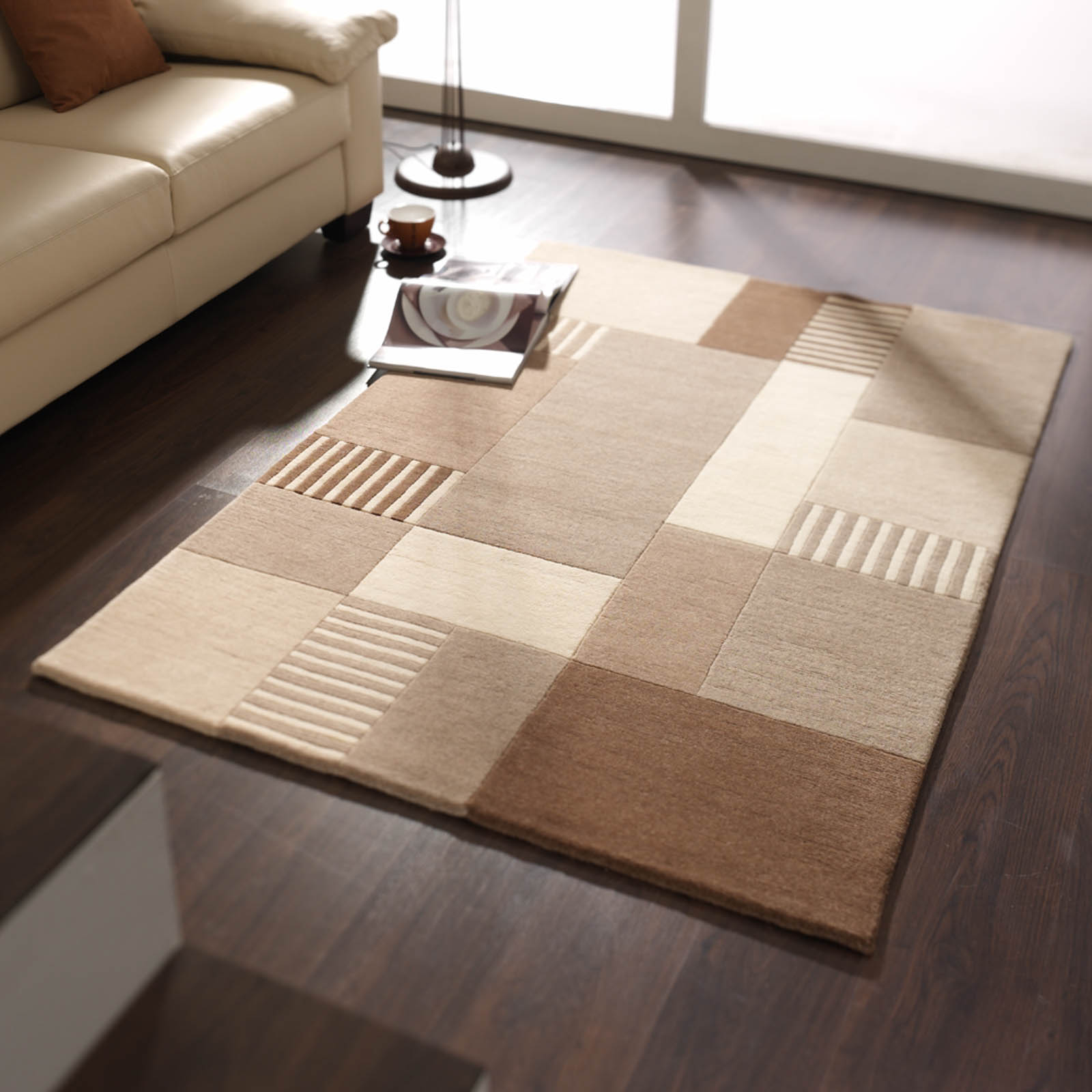 Impression Rugs 605 in Beige Brown