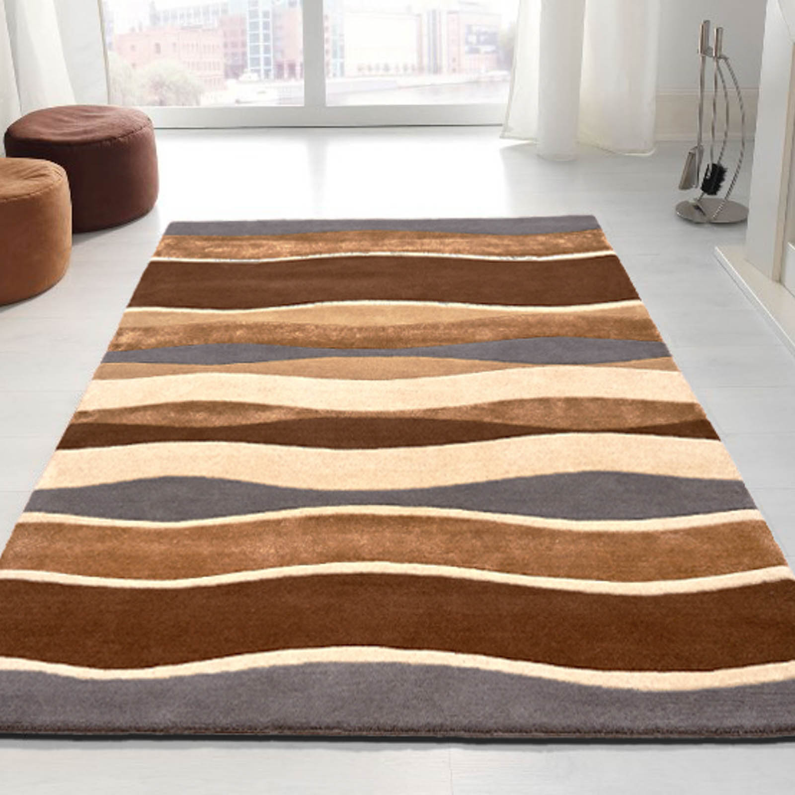 Impression Rugs 702 in Brown and Grey