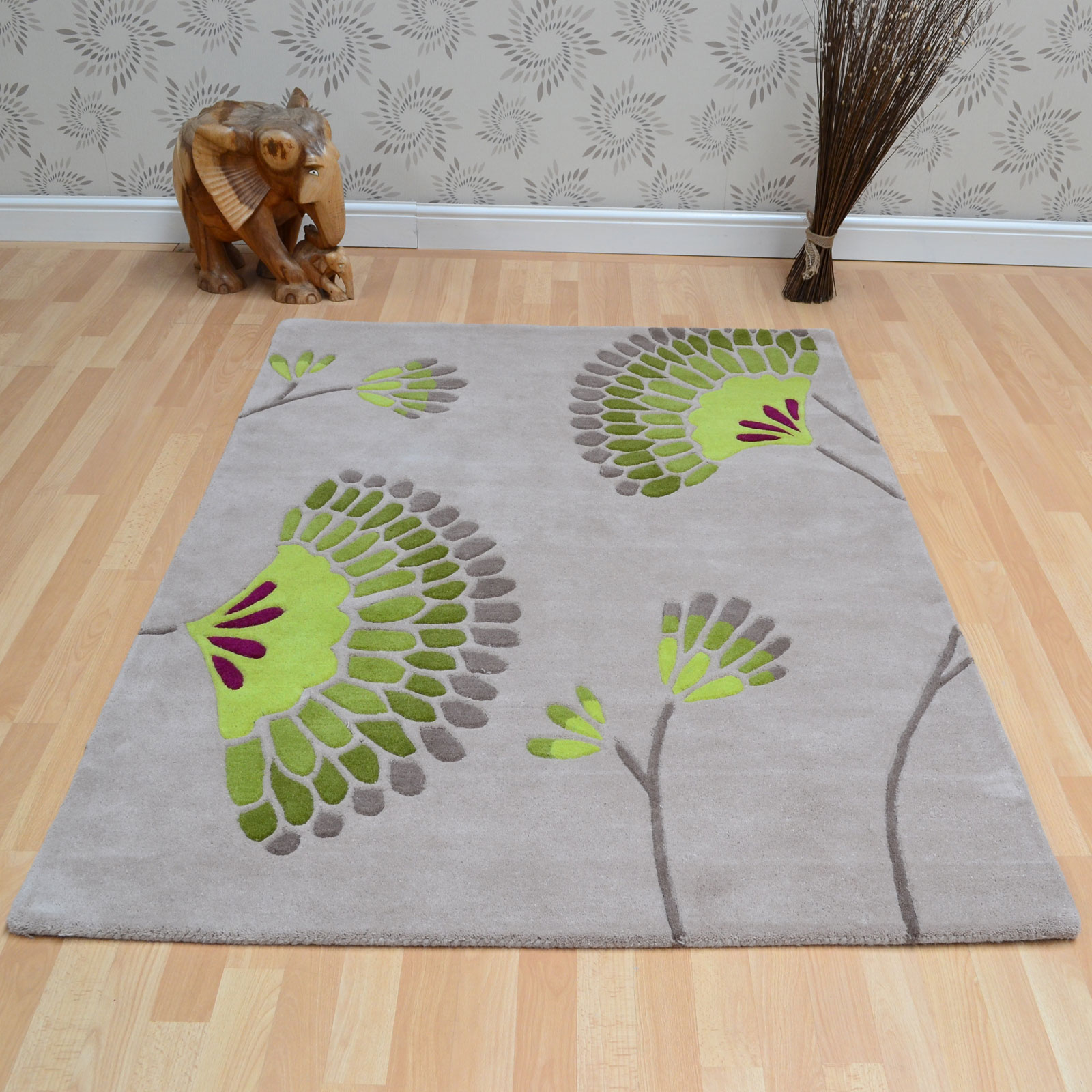 Lime Green Overdyed Rug: Ixia Rugs In Beige And Lime Green
