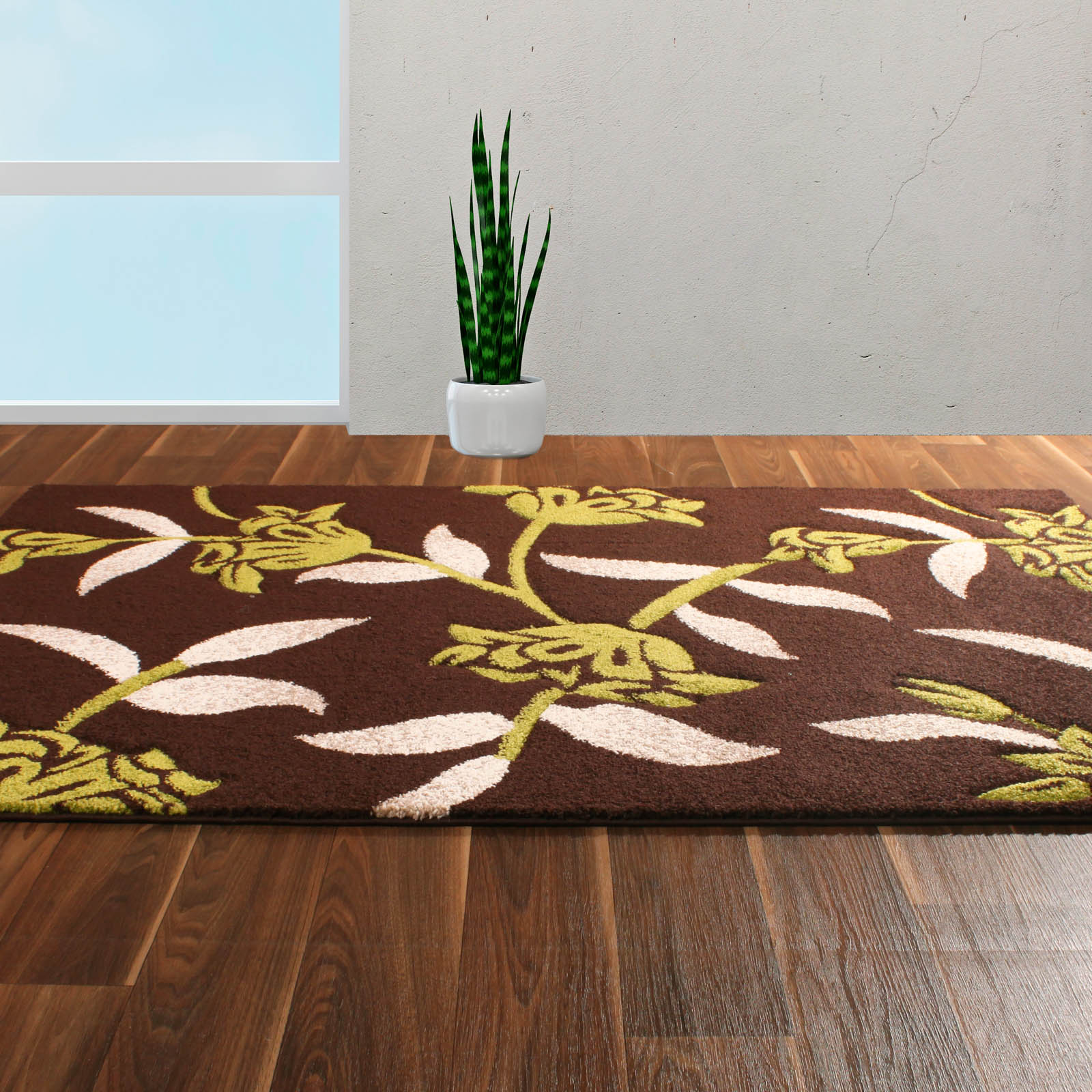 Rapello Jasmine Rugs in Chocolate Green
