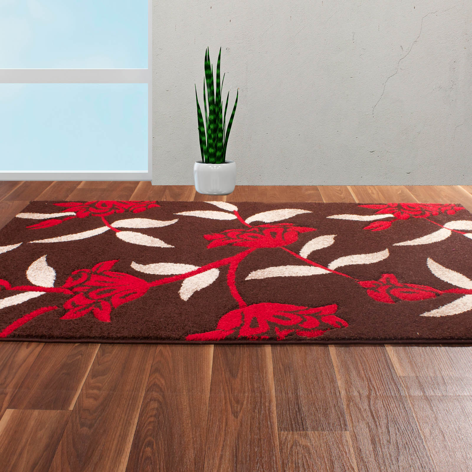 Rapello Jasmine Rugs in Chocolate Red