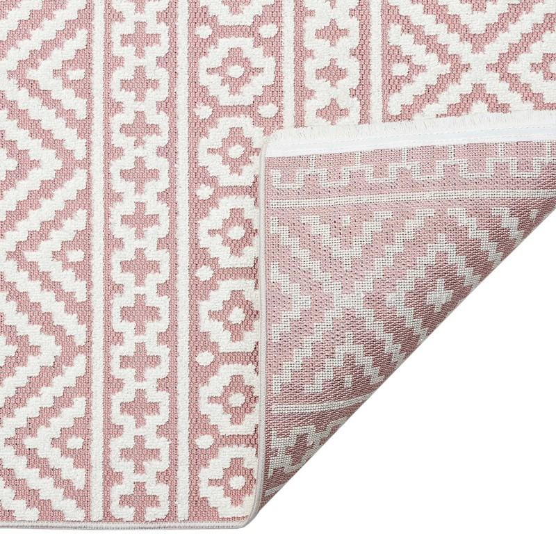 Jazz Jaz06 Indoor Outdoor Rugs In Rose, Pink Outdoor Rug Uk