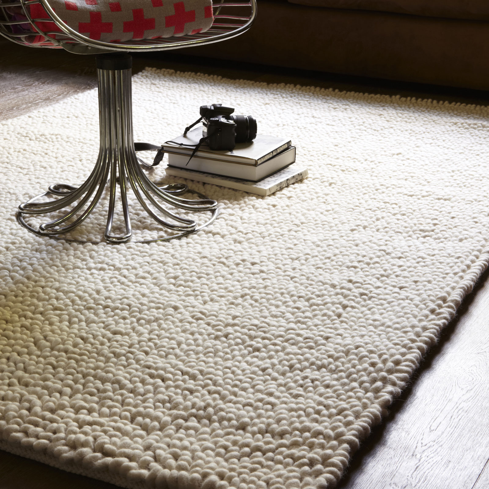 Jessica Wool Rugs JES01 in Ivory