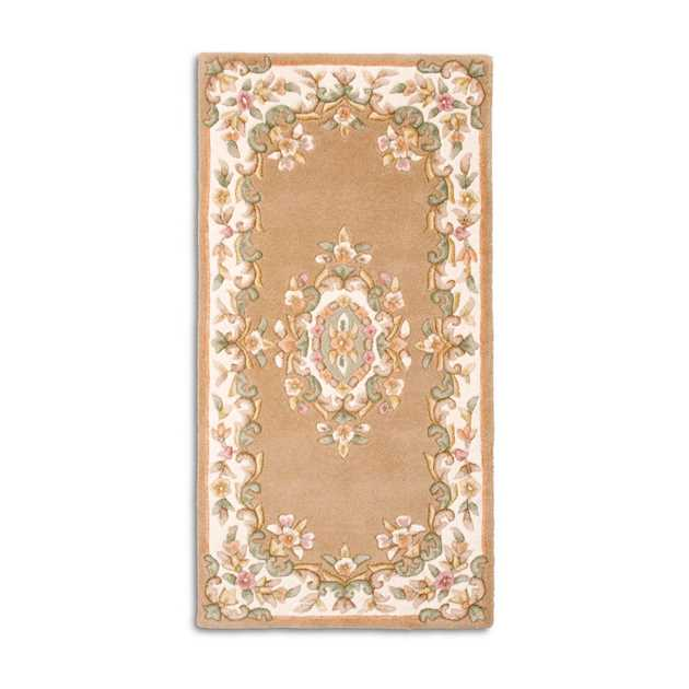 Jewel Traditional Wool Rugs in Beige Ivory