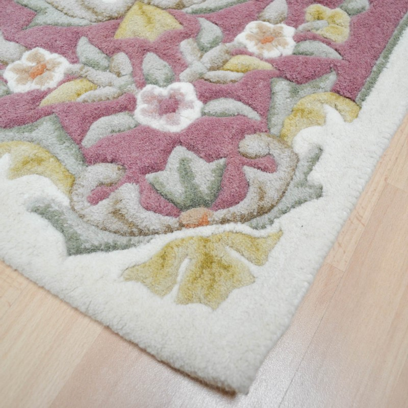 Jewel Traditional Wool Rugs In Ivory Pink Buy Online From