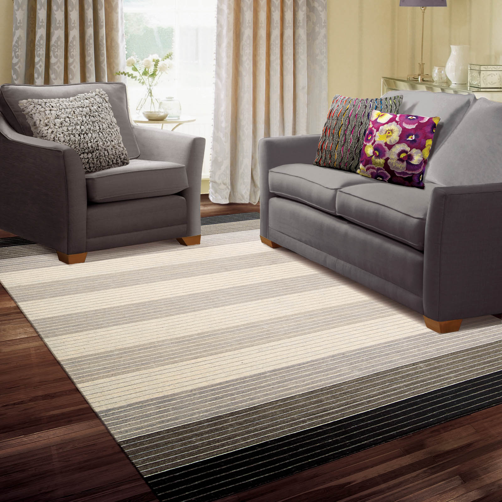 Kathy Ireland Griot Rugs KI802 Pepper
