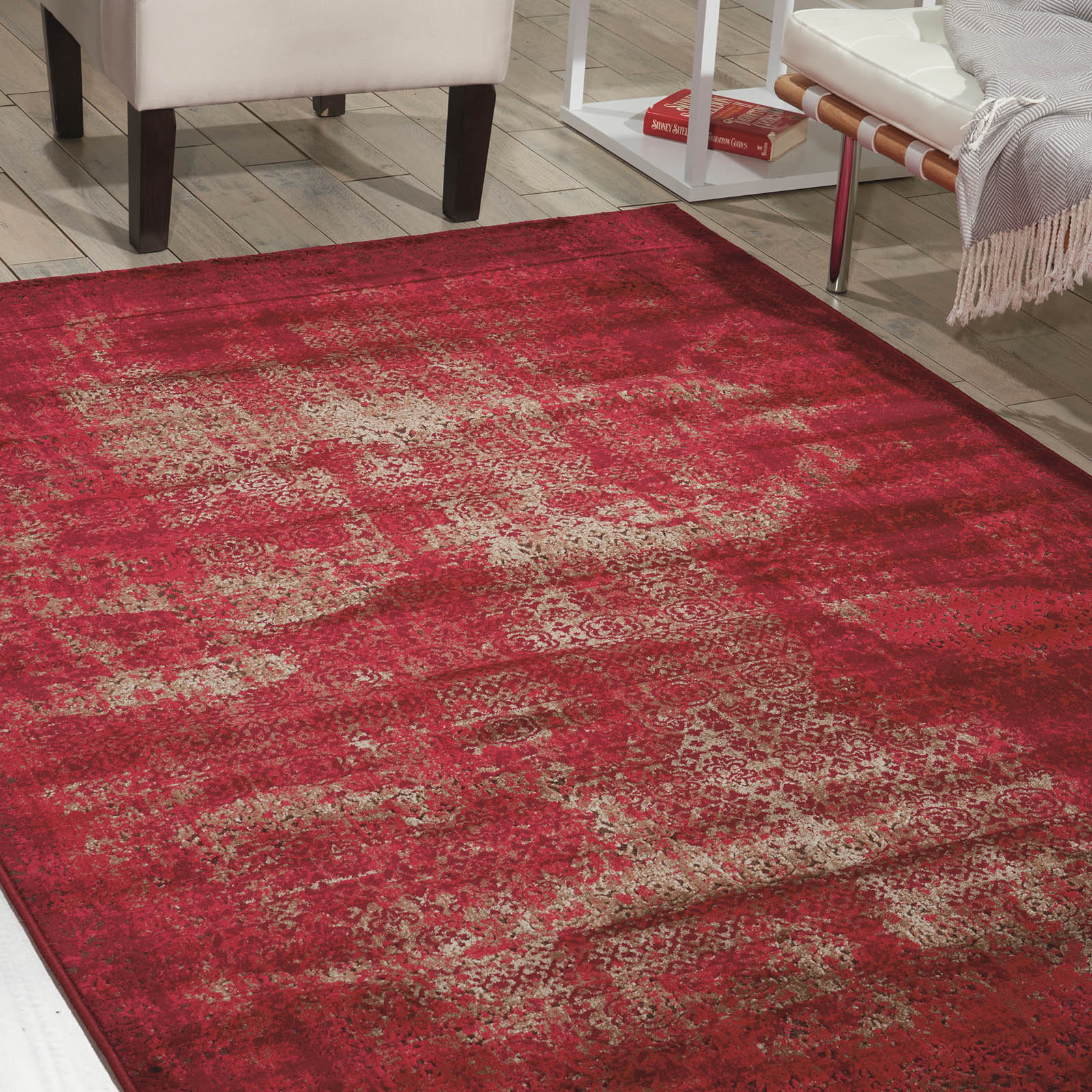 Karma Rugs KRM01 in Red