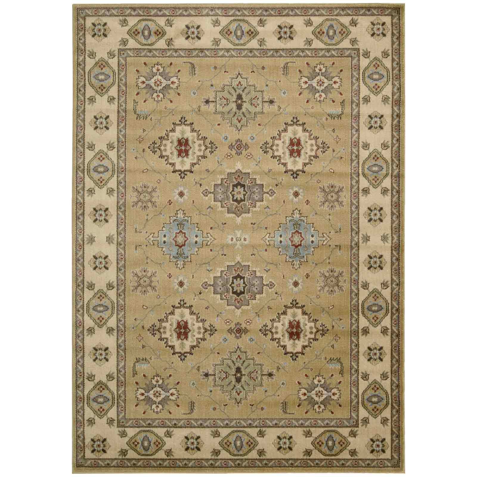 Mondrian Kazak Rugs KZ01 Light Gold by Nourison