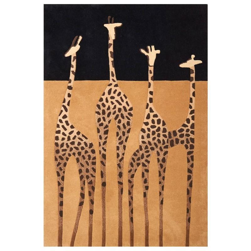 Kalahari Giraffe Rugs In Gold And Black Buy Online From