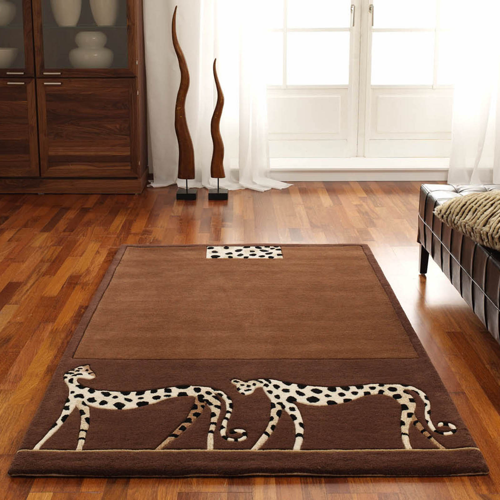 Kalahari Leopard Rugs in Brown