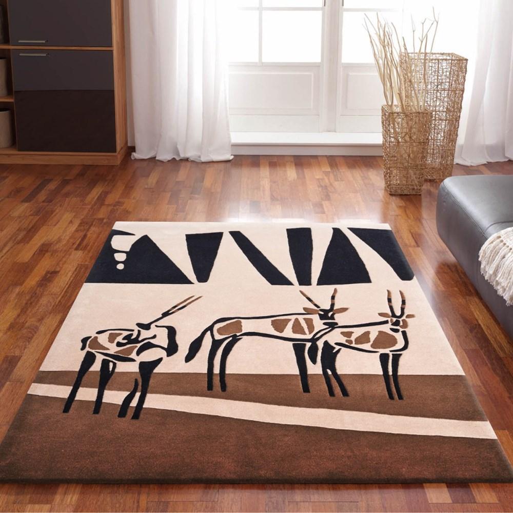 Kalahari Oryx Rugs In Beige, Brown And Black Buy Online