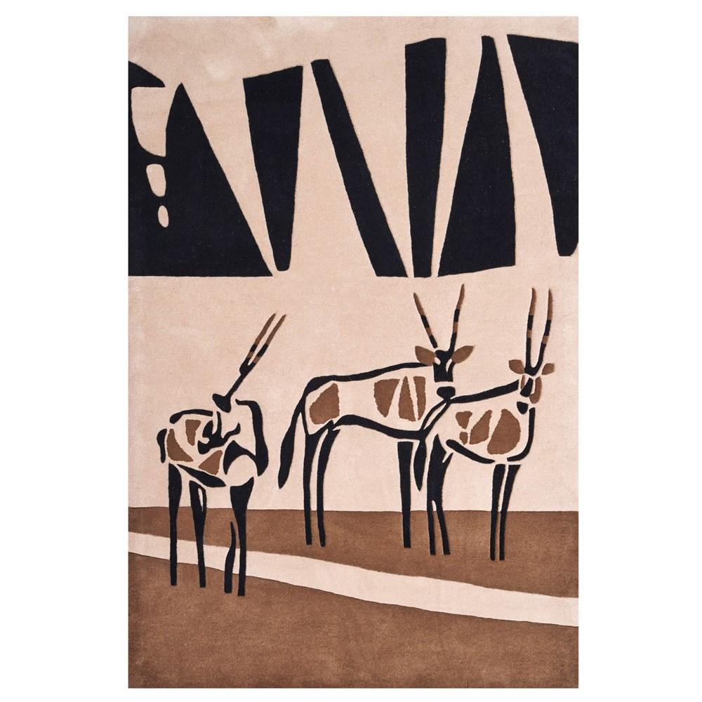 Kalahari Oryx Rugs In Beige, Brown And Black