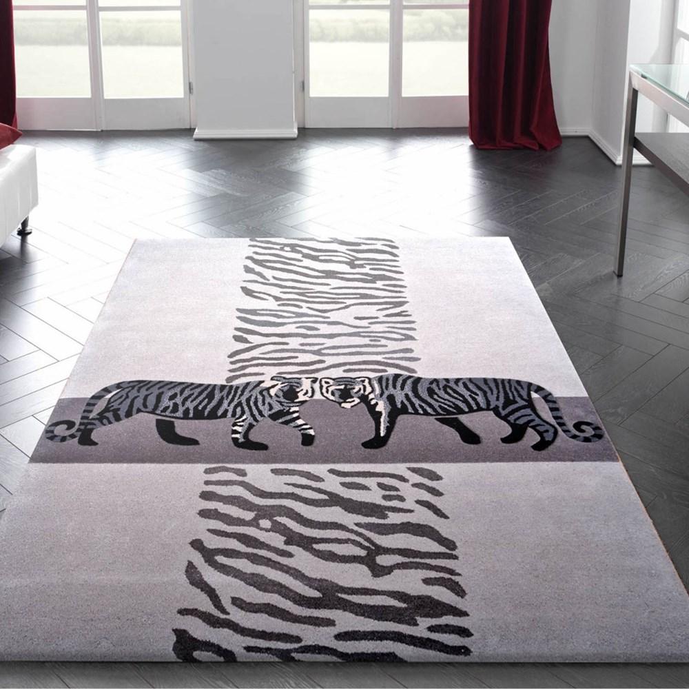 Kalahari Tiger Rugs In Grey Buy Online From The Rug Seller Uk