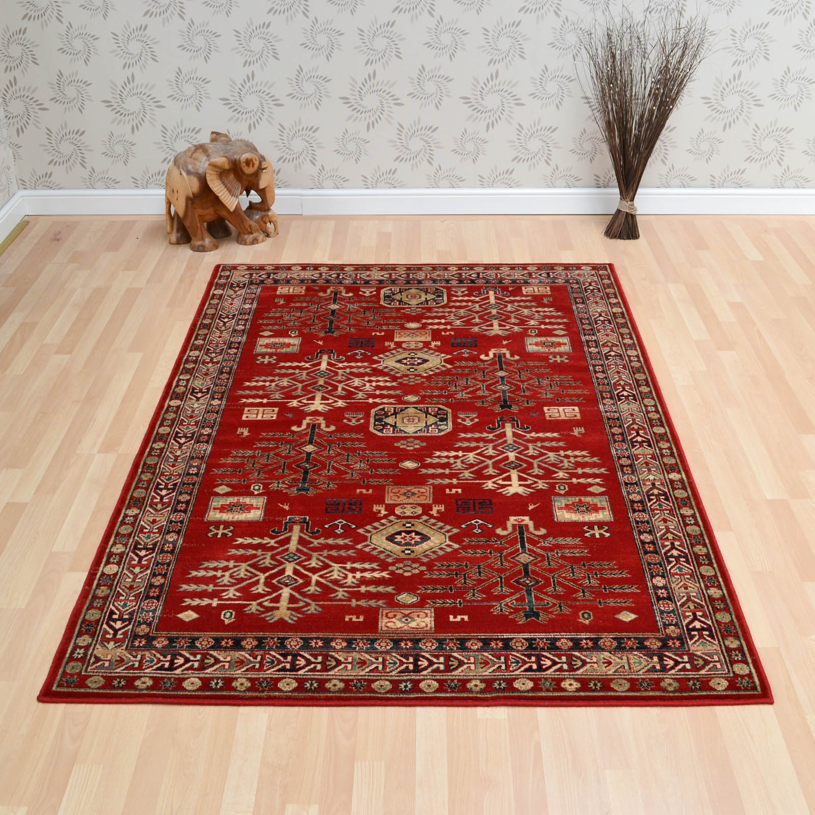 Woburn Kazak Rugs in Terracotta