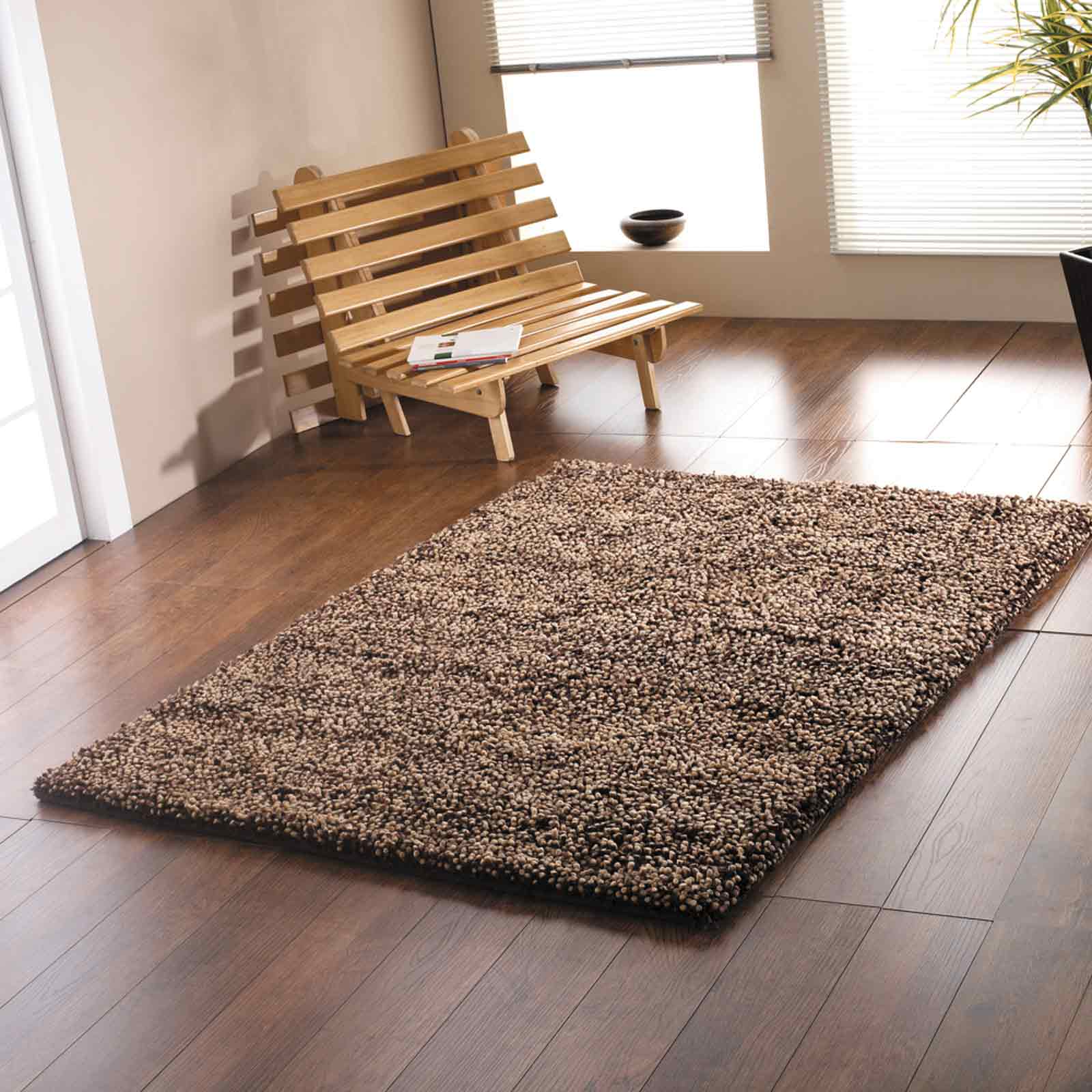 KENSINGTON RUGS - PURE SHAGGY WOOL IN CHOCOLATE