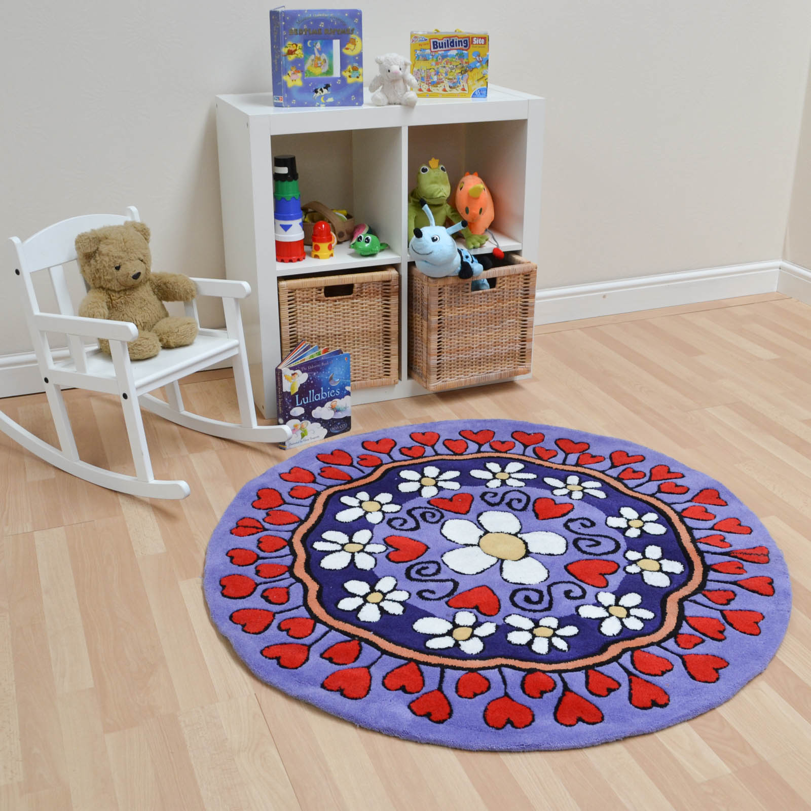Kiddy Circle Rugs in Purple