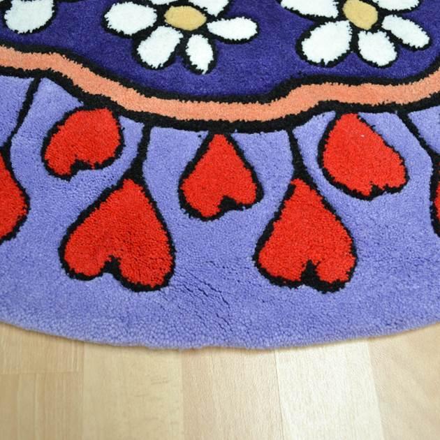Purple Circle Rugs: Kiddy Circle Rugs In Purple