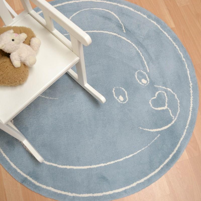 Teddy Circular Rugs In Blue Buy Online From The Rug Seller Uk