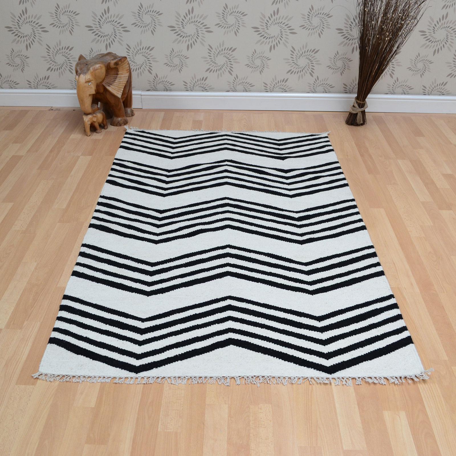 jeff banks kilim zig zag rugs in black white free uk delivery the rug seller. Black Bedroom Furniture Sets. Home Design Ideas