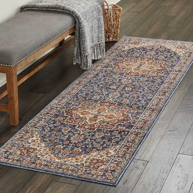 Lagos Hallway Runners by Nourison LAG01 in Blue