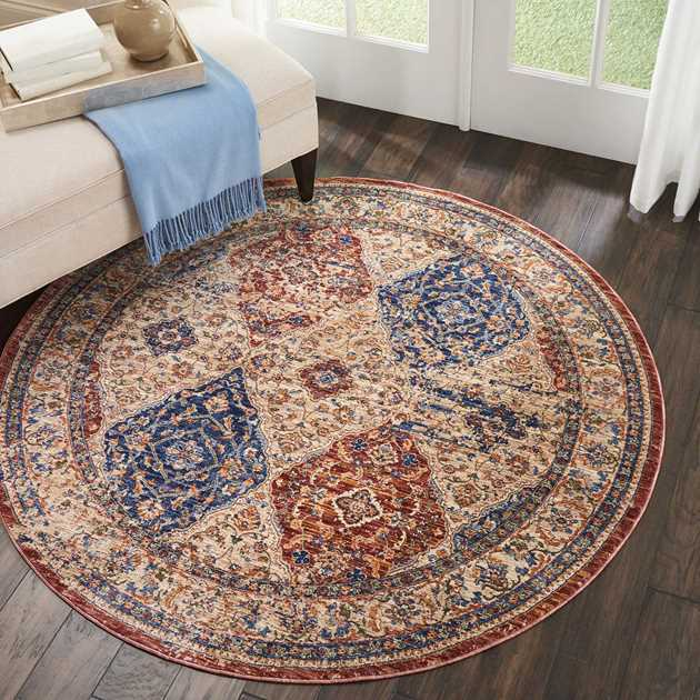 Lagos Circular Rugs by Nourison LAG05 in Multicolor