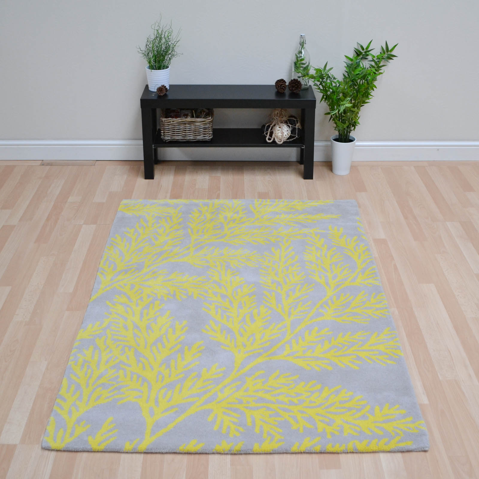 Leaf Rugs LEA03 Yellow