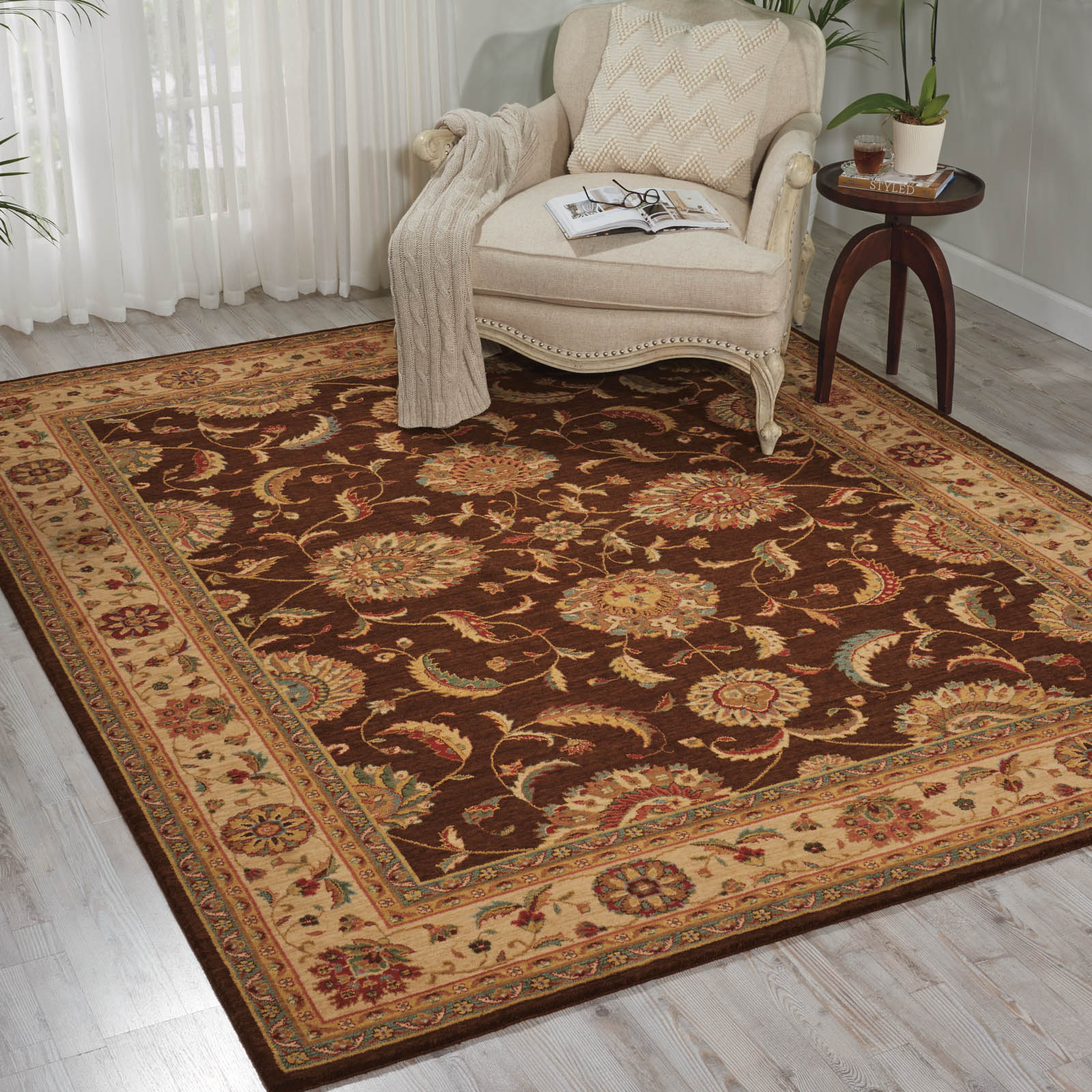 Living Treasure Rugs by Nourison LI04 in Brown