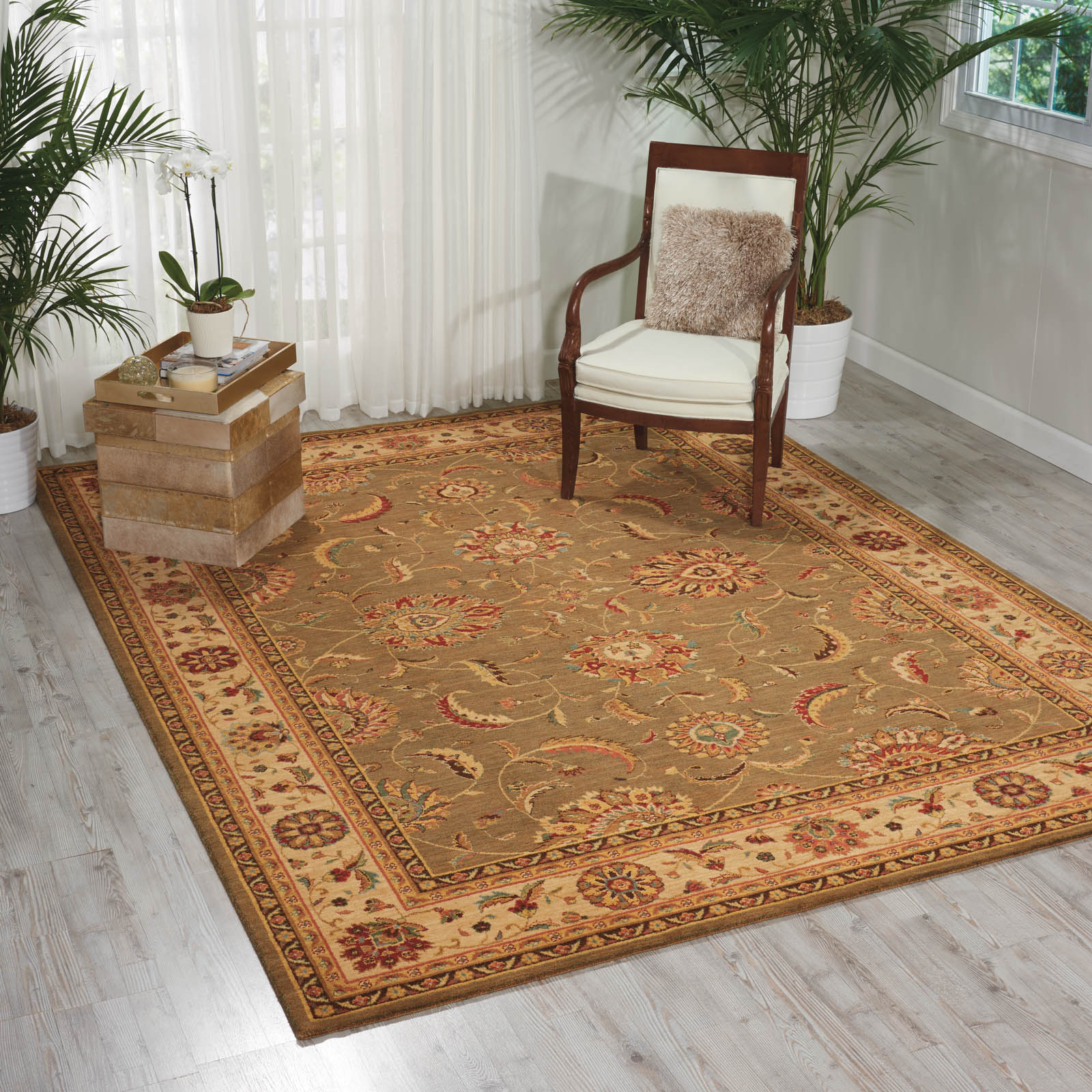 Living Treasure Rugs by Nourison LI04 in Green