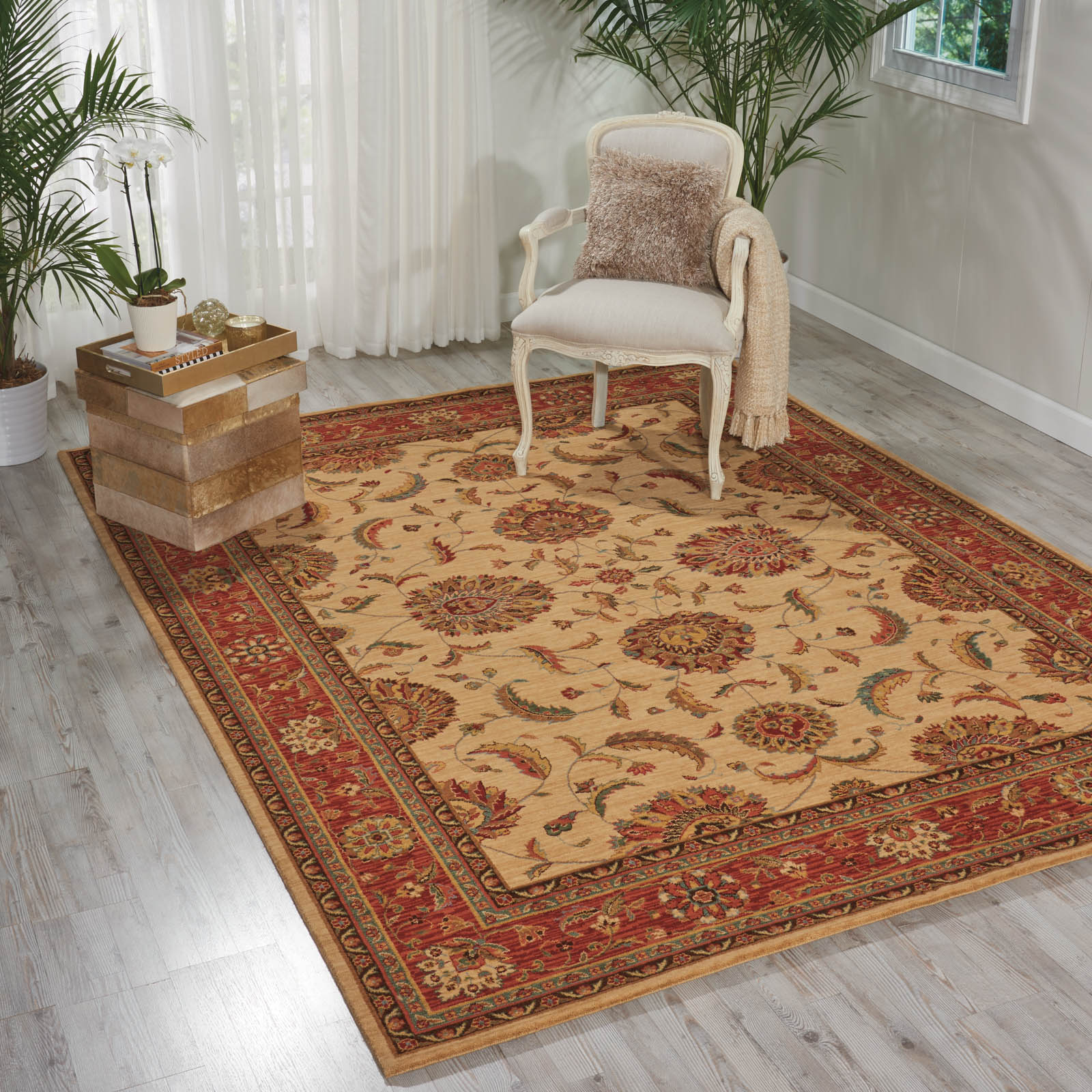 Living Treasure Rugs by Nourison LI04 in Ivory Red