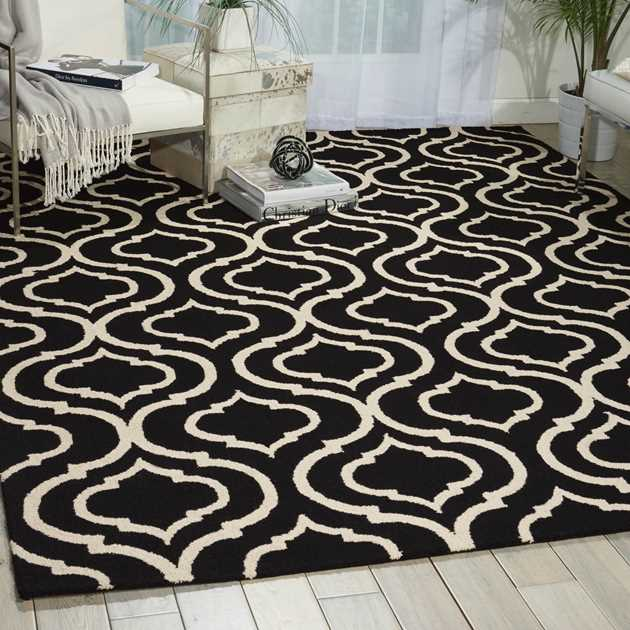 Linear Rugs LIN15 in Black