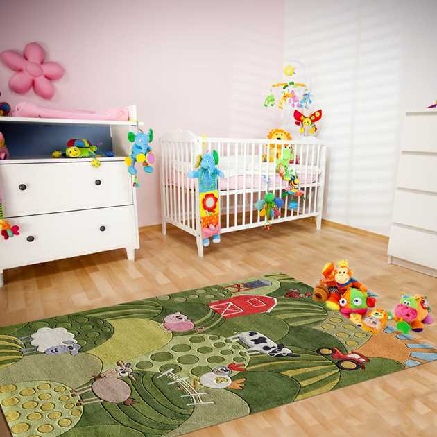 Farm Land Rugs LMJ11 by Momeni in Grass