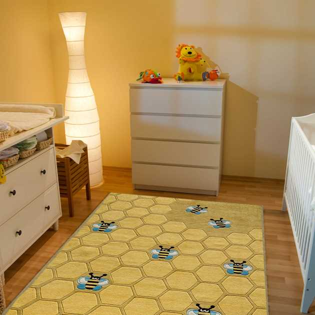 Honeycomb Rugs lmj15 by Momeni in Gold
