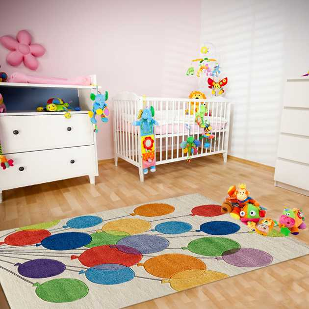 Balloons Rugs lmj16 by Momeni in Multi