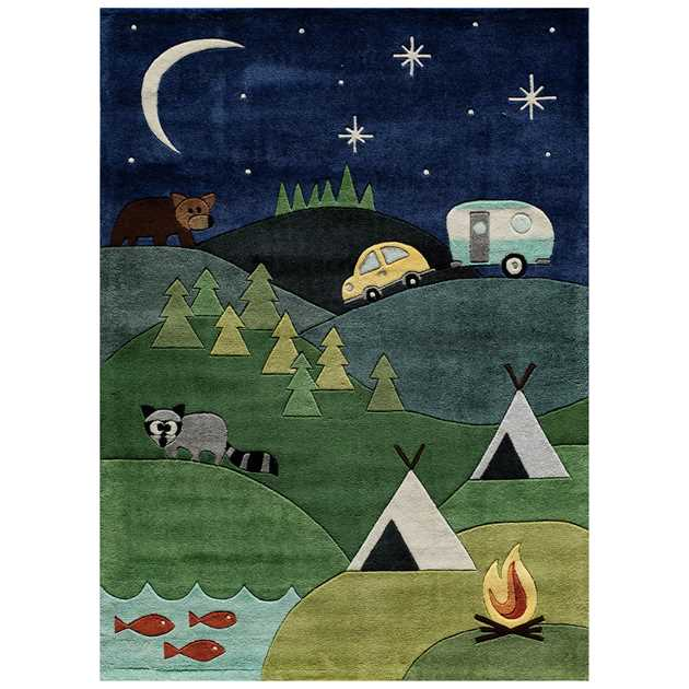 Camping Rugs lmj31 by Momeni in Blue