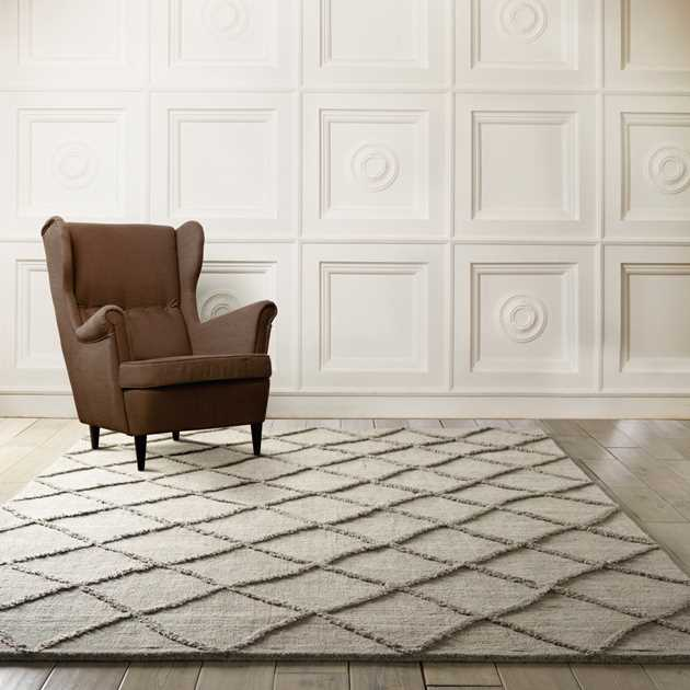 Lunette Rugs LNT01 in Silver