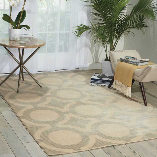Nourison Luminance Rugs LUM01 CRMGY in Cream Grey