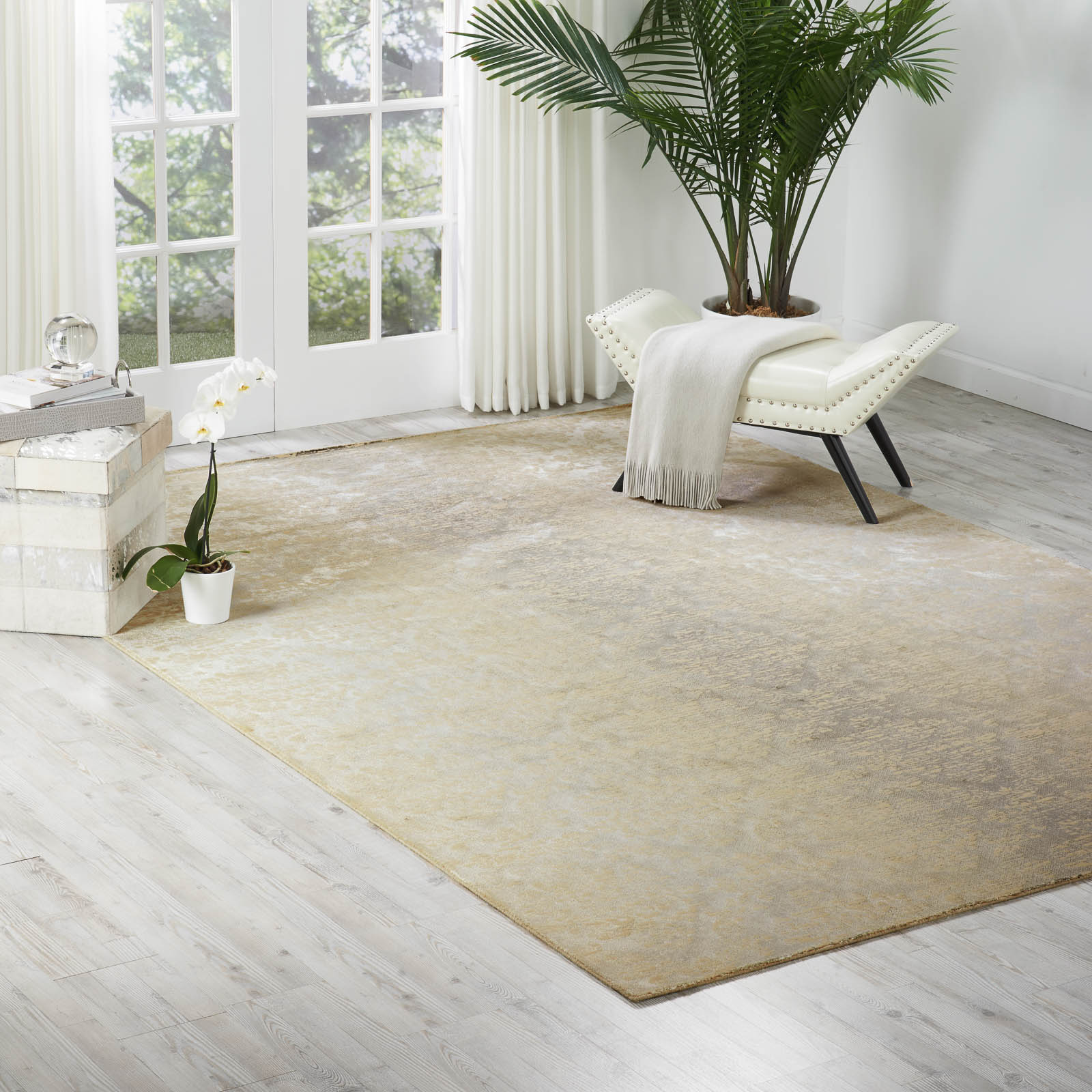 Nourison Luminance Rugs LUM03 in Sea Mist