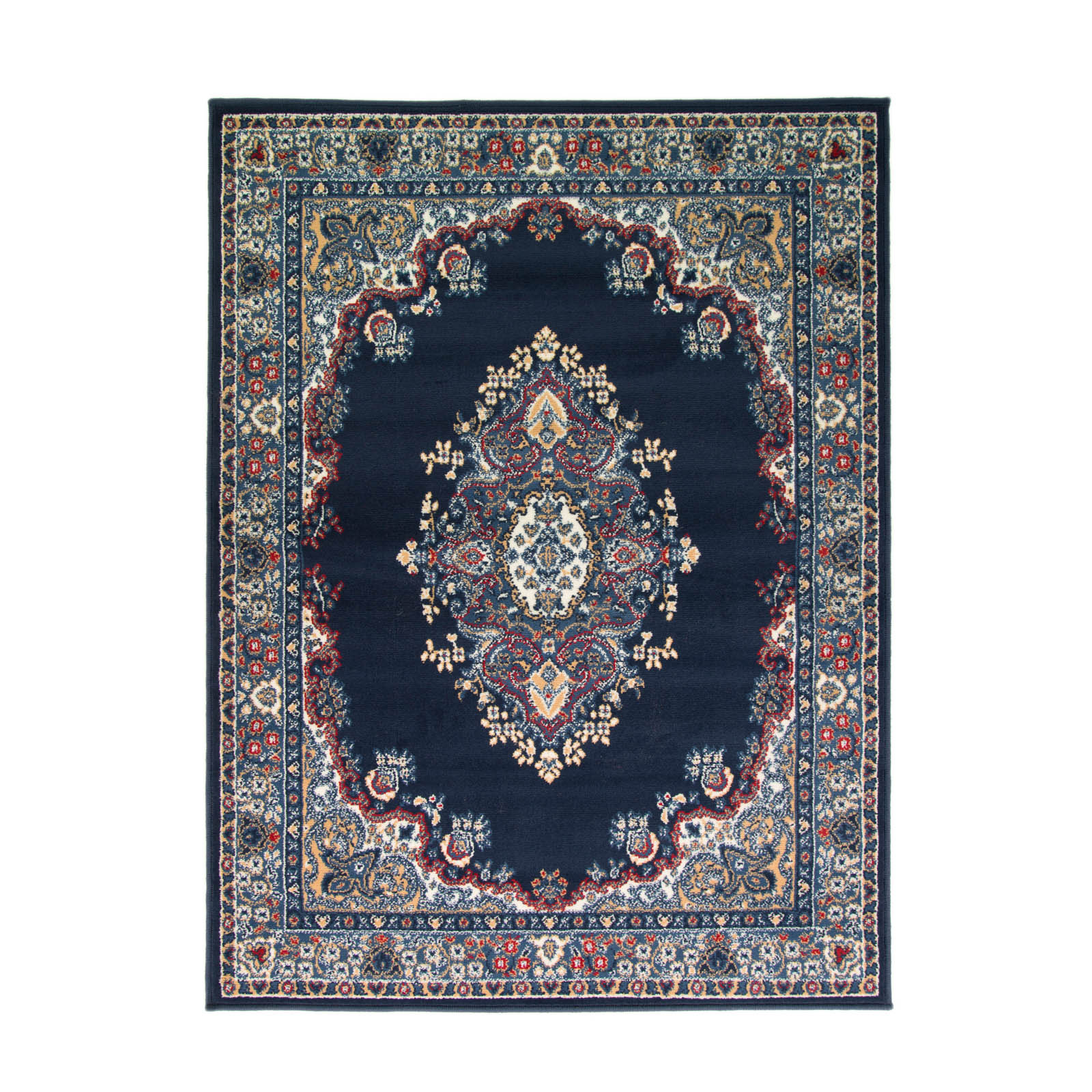 Lancaster Traditional Rugs in Navy