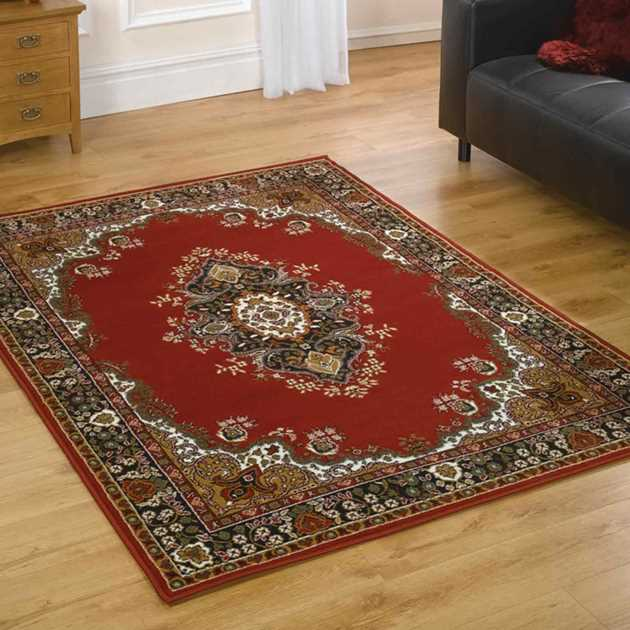 Lancaster Traditional Rugs in Red
