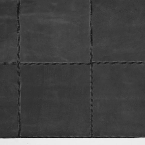 Leather Square Runner - Black