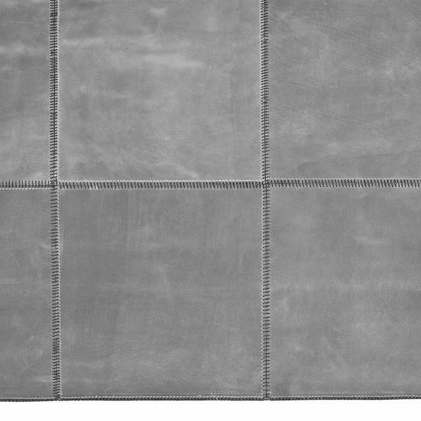 Leather Square Runner - Grey